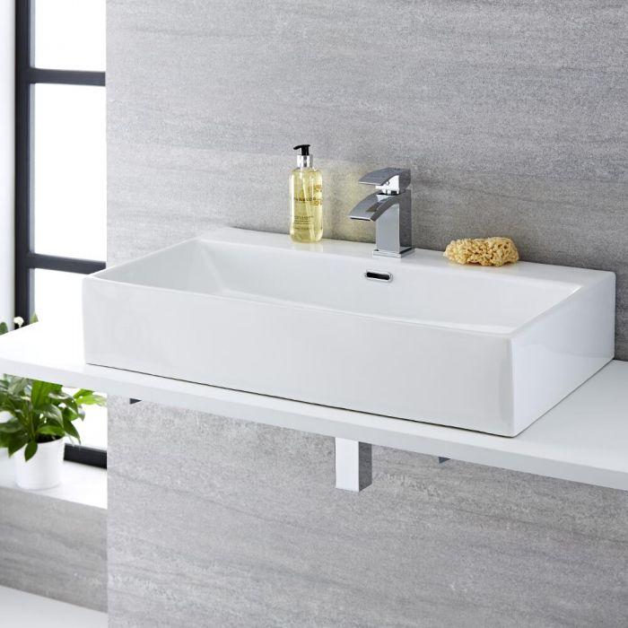 Vasque à poser rectangulaire - 75 x 42 cm - Sandford