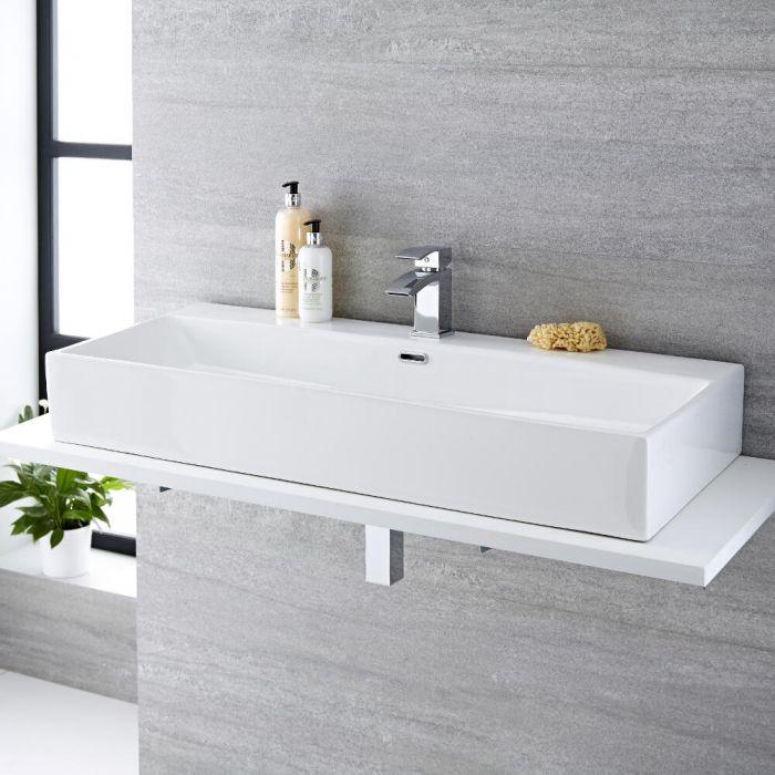 Vasque à poser rectangulaire - 100 x 42 cm - Sandford