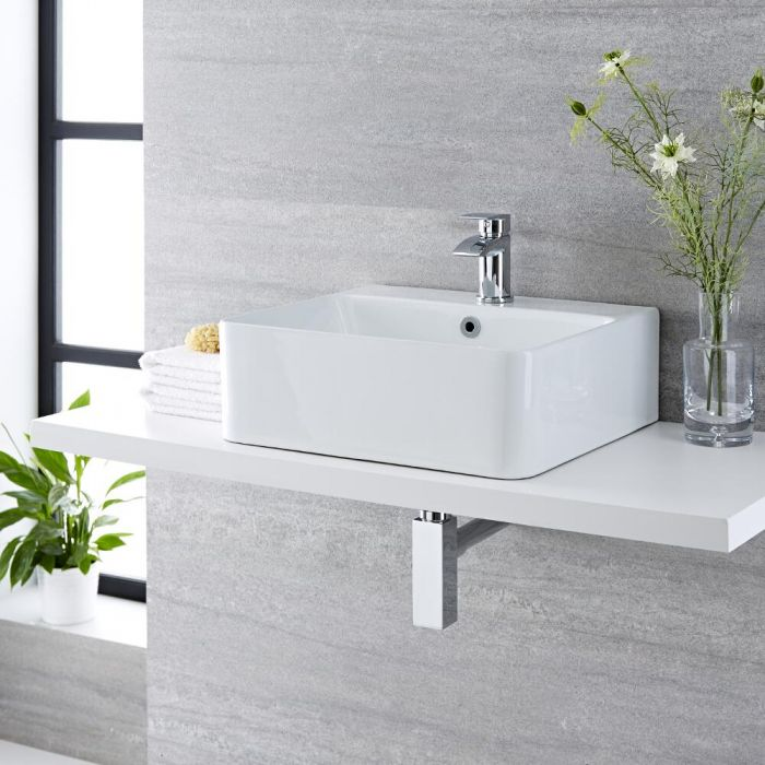 Vasque à poser rectangulaire - 46 x 42 cm – Exton