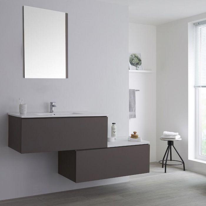 Meuble salle de bain avec vasque Gris Newington - 160cm