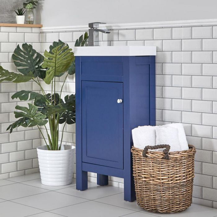 Meuble lave-mains – 44 cm – Bleu marine - Warwick