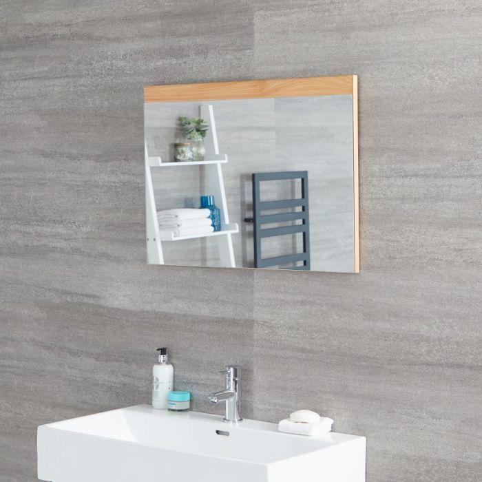 Miroir – Effet chêne doré – 70 cm x 50 cm - Newington