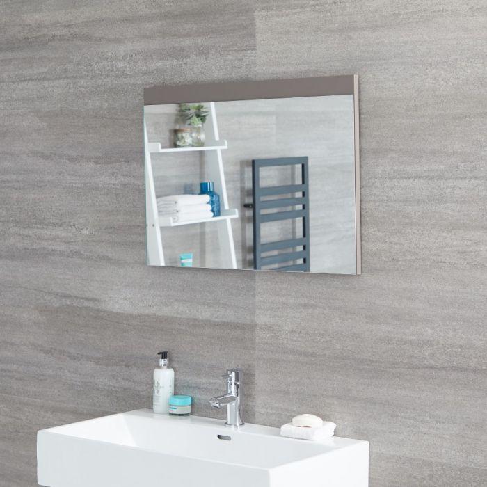Miroir – Gris mat – 70 cm x 50 cm - Newington
