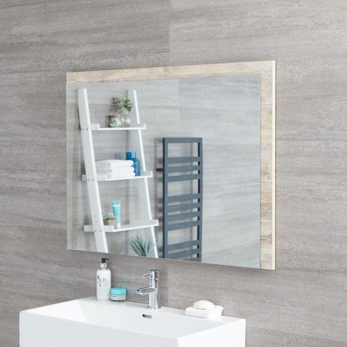 Miroir salle de bain Hoxton Cadre Chêne Clair 75x100cm