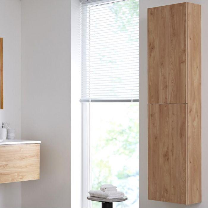 Colonne de rangement moderne – Effet chêne doré – 35 cm x 150 cm – Newington