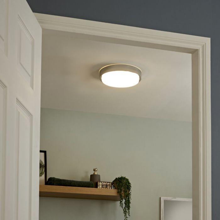 Plafonnier LED 18W Zell Ø 28cm IP44