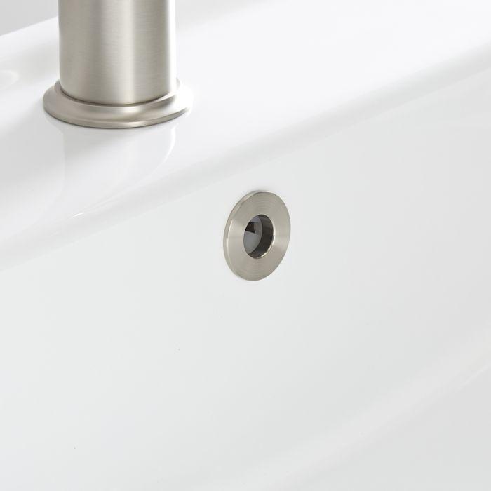 Bague pour trop-plein de lavabo – Nickel brossé