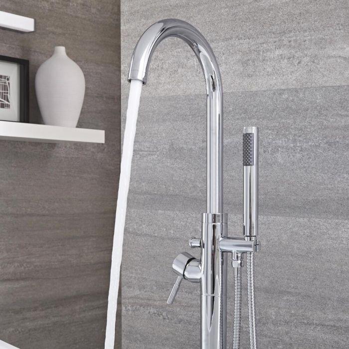 Mitigeur baignoire douche îlot avec douchette – Chromé - Como