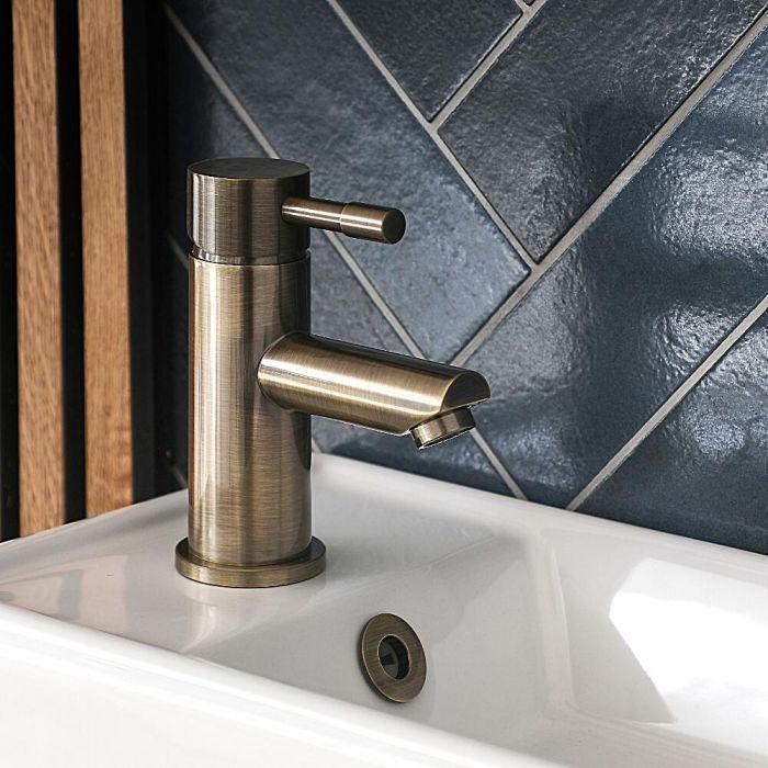 Mitigeur lavabo monotrou – Or brossé – Clarus