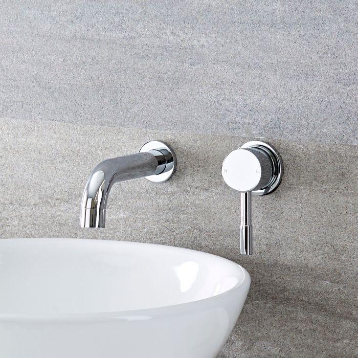 Mitigeur lavabo mural chromé - Como