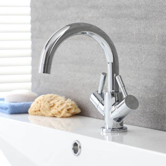 Mélangeur lavabo avec bec pivotant – Chromé - Como