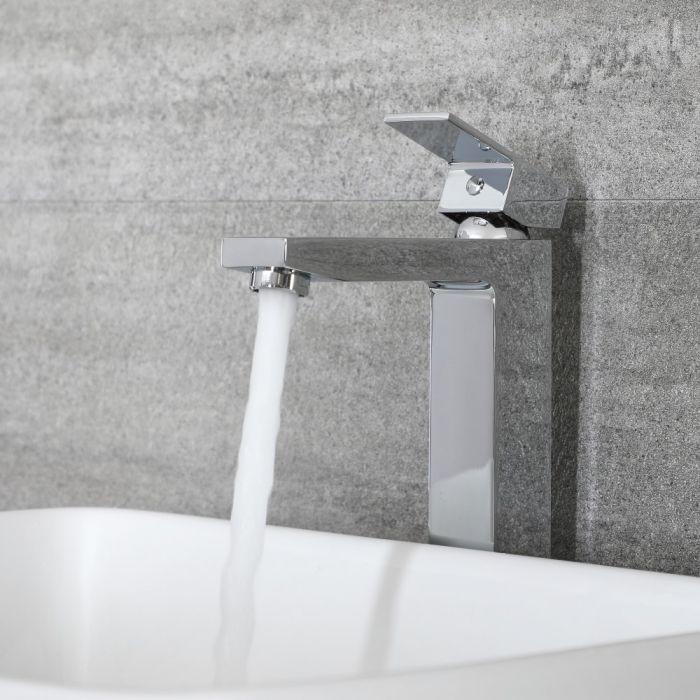 Mitigeur lavabo haut moderne – Chromé - Kubix