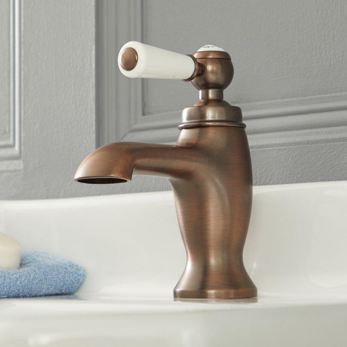 Mitigeur lavabo monotrou rétro – Commande levier – Bronze huilé - Elizabeth