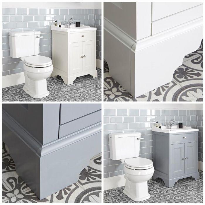 Meuble sous lavabo rétro et pack WC – 63 cm – Thornton