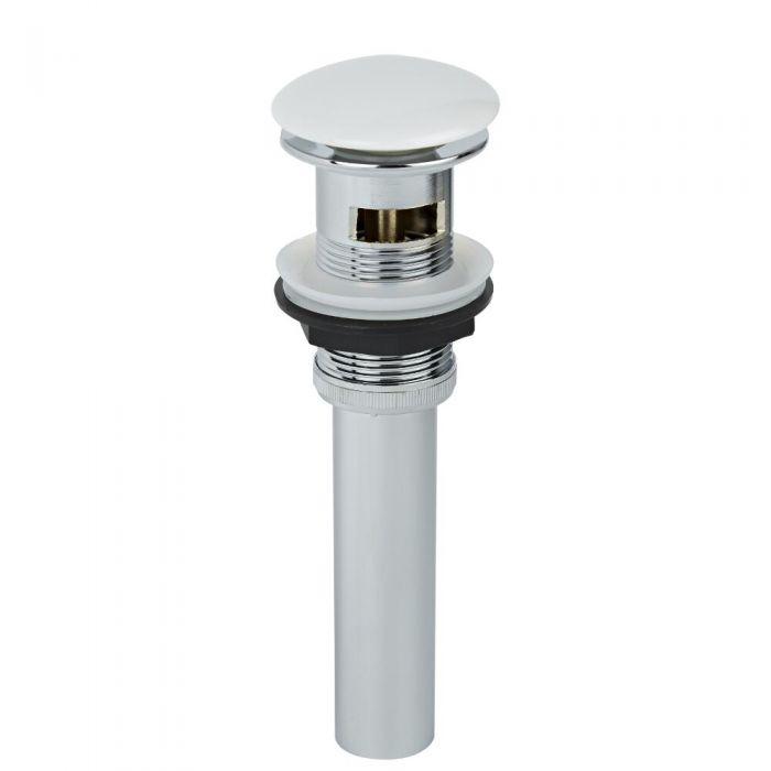 Bonde lavabo bouton poussoir - Blanc - 60 x 39 cm - Select