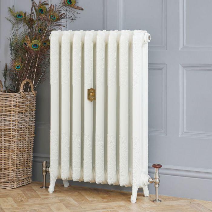 Radiateur fonte – 51 cm – Blanc porcelaine – Tailles multiples – Charlotte