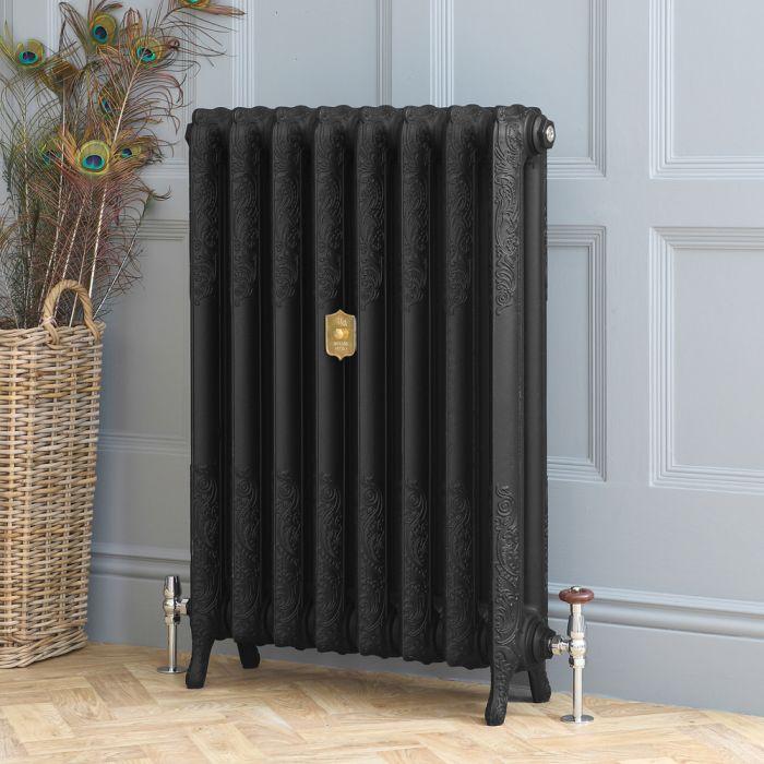 Radiateur fonte fleuri – 95 cm – Noir ardoise – Tailles multiples – Charlotte