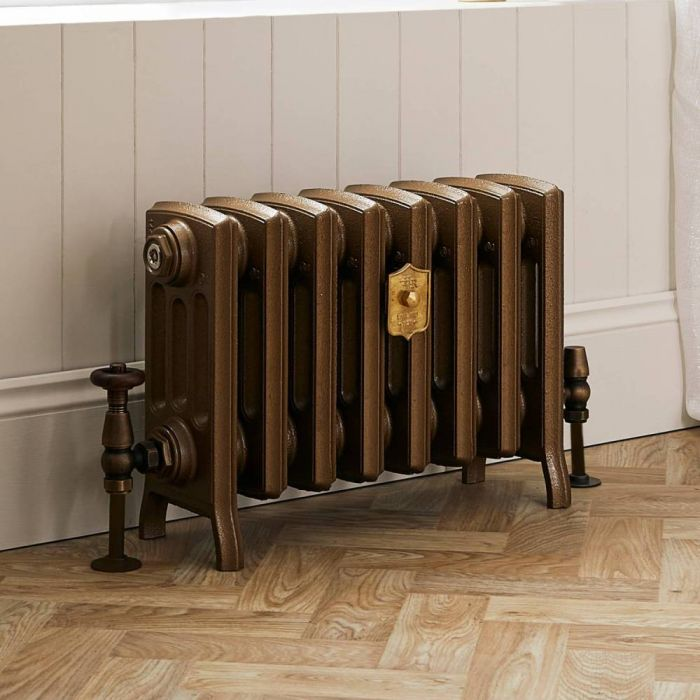 Radiateur fonte – 35,7 cm – Or baroque – Tailles multiples - Isabel