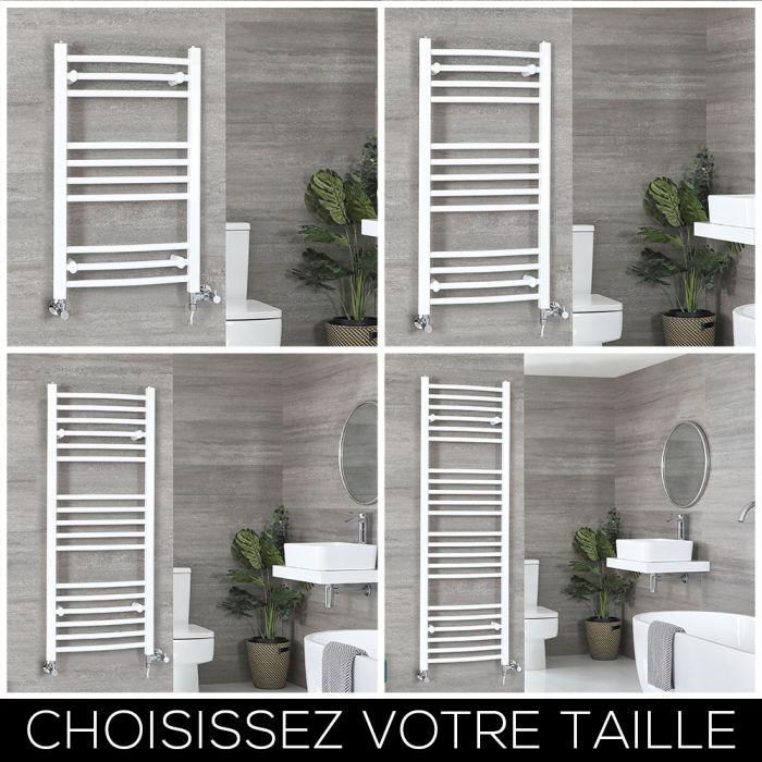 Sèche-serviettes mixte incurvé – Blanc – Choix de tailles - Ive
