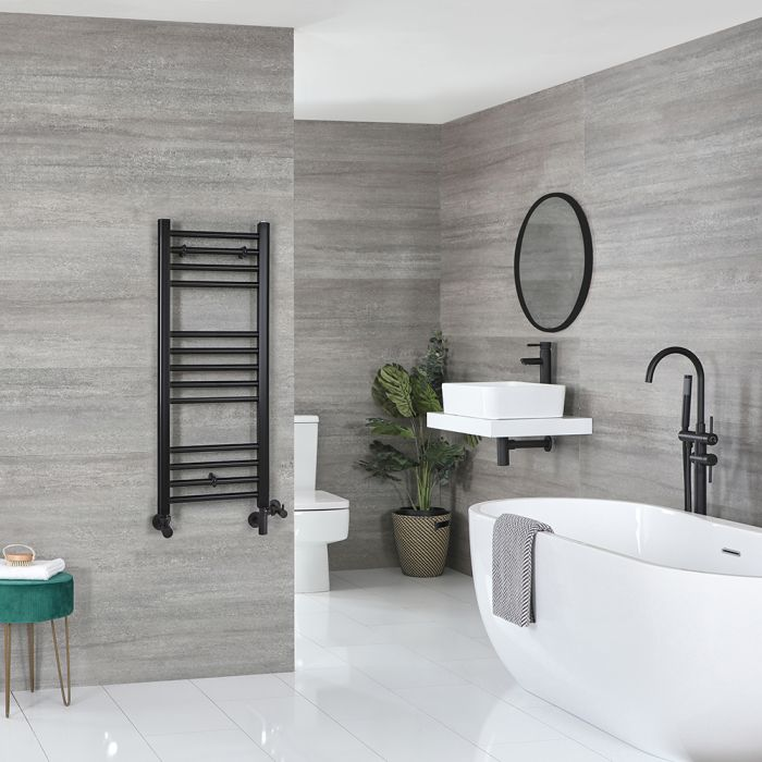 Sèche-serviettes mixte plat – Noir – 100 cm x 40 cm - Nox