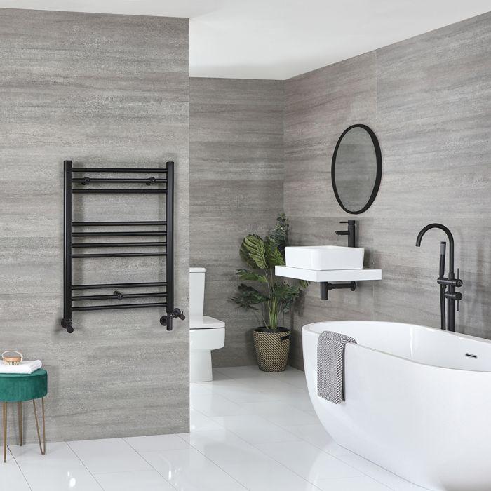 Sèche-serviettes mixte plat – Noir – 80 cm x 60 cm - Nox