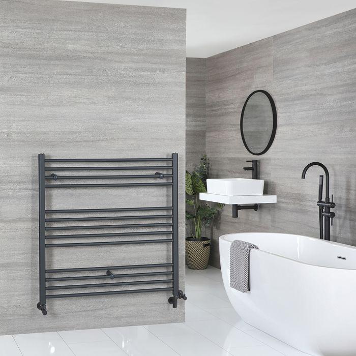 Sèche-serviettes mixte plat – Anthracite – 100 cm x 100 cm - Artle