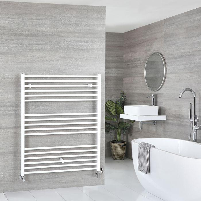 Sèche-serviettes mixte plat – Blanc – 120 cm x 100 cm - Ive