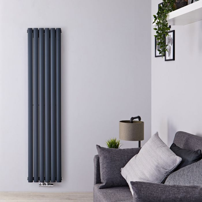 Radiateur Design Vertical 160 x 35.4cm Vitality Caldae Anthracite 1289 watts