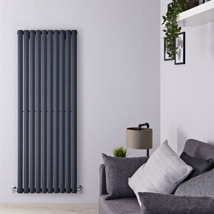 Radiateur Design Vertical Anthracite Vitality 160cm x 59cm x 5,5cm 1402 Watts