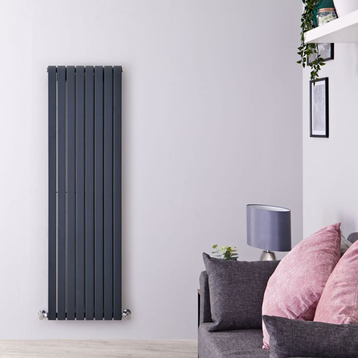 Radiateur design vertical – Anthracite – 160 cm x 47,2 cm – Sloane