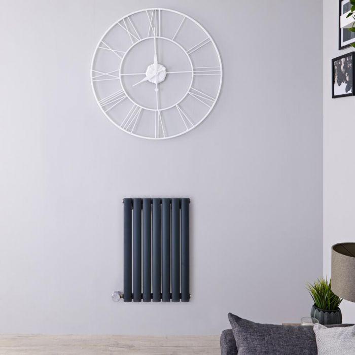 Radiateur design électrique horizontal - Anthracite - 63,5 cm x 41,3 cm x 5,5 cm - Vitality