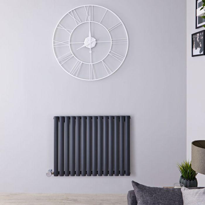 Radiateur design électrique horizontal - Anthracite - 63,5 cm x 82,6 cm x 5,6 cm - Vitality