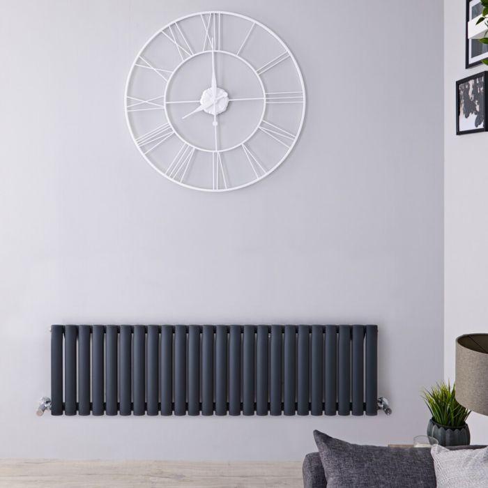 Radiateur design horizontal - Anthracite – 40 cm x 141,1 cm – Vitality