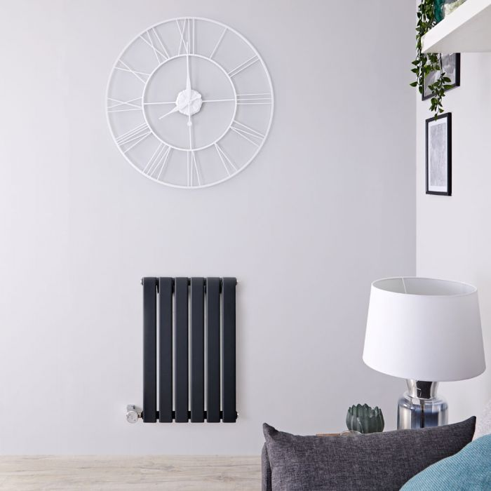 Radiateur design électrique horizontal - Anthracite - 63,5 cm x 42 cm x 4,6 cm - Delta