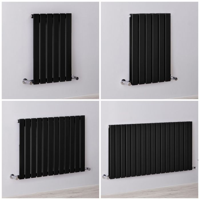 Radiateur design horizontal noir - Tailles multiples - Delta