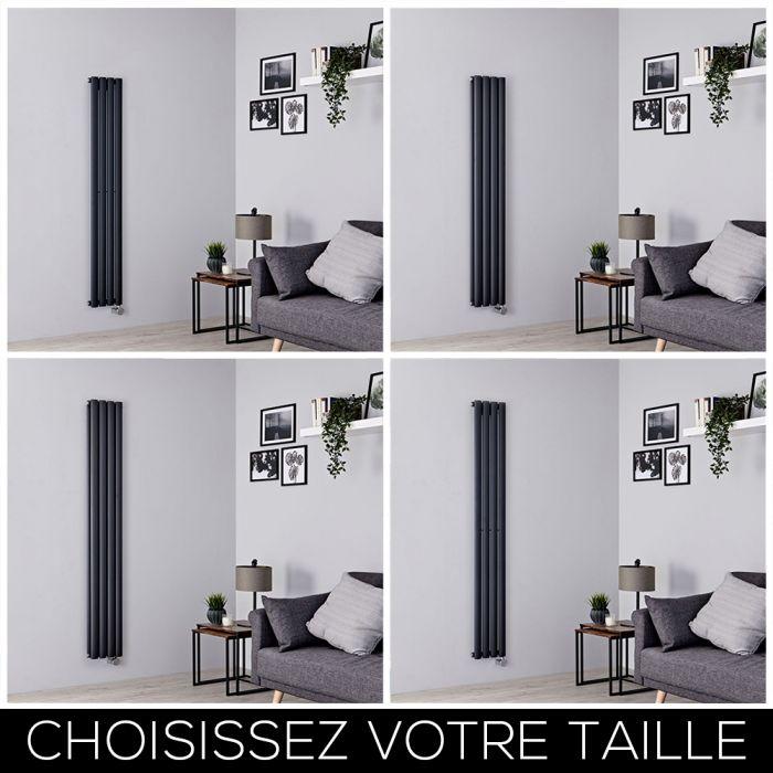 Radiateur design électrique vertical – Anthracite – 23,6 cm – Choix de tailles - Vitality