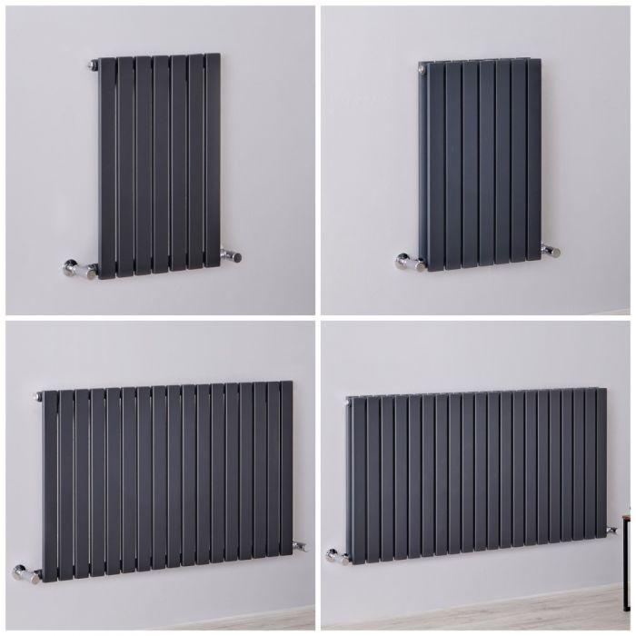 Radiateur design horizontal – Colonnes plates – Anthracite – Tailles multiples - Sloane