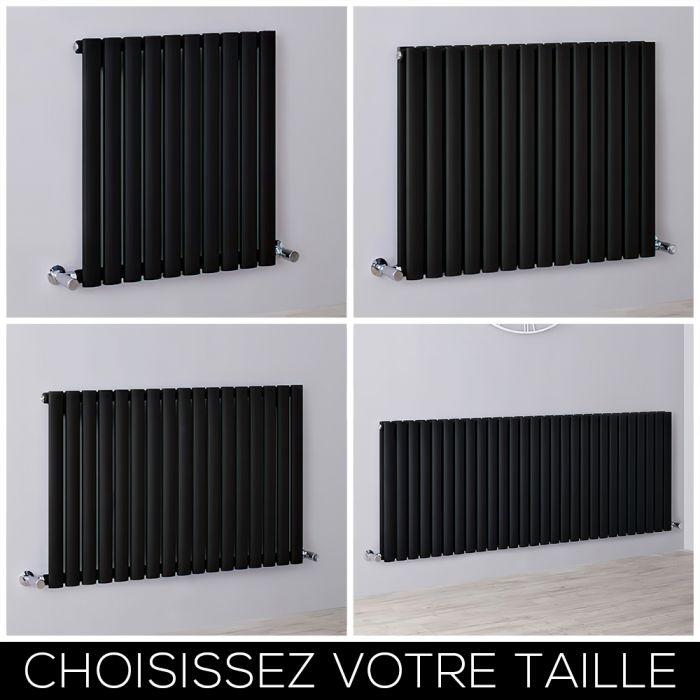 Radiateur design horizontal noir - Choix de tailles - Vitality