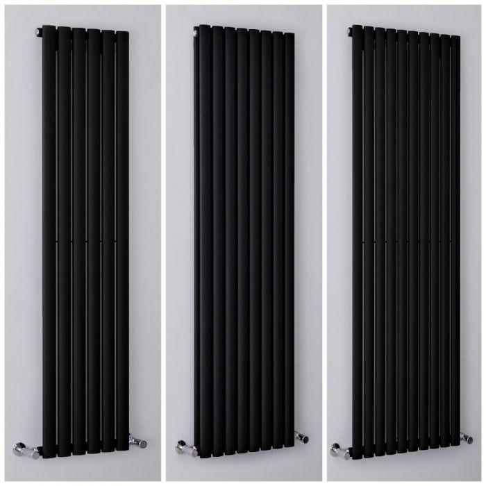 Radiateur design vertical noir - Choix de tailles - Vitality