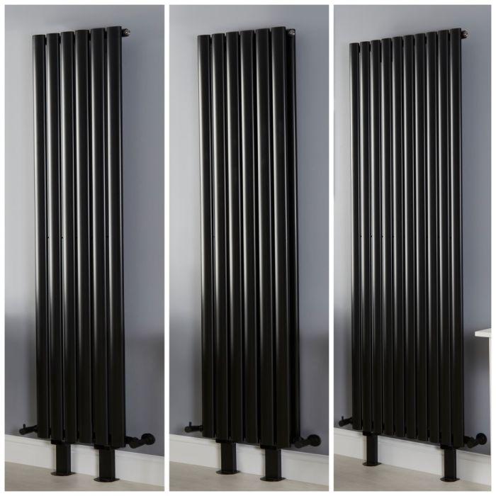 Radiateur vertical design – Noir – Avec pieds – Tailles multiples - Vitality