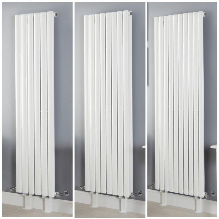 Radiateur vertical design – Blanc – Avec pieds – Tailles multiples - Vitality