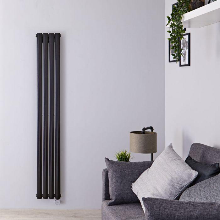 Radiateur design électrique vertical - Noir – 160 cm x 23,6 cm x 7,8 cm - Vitality