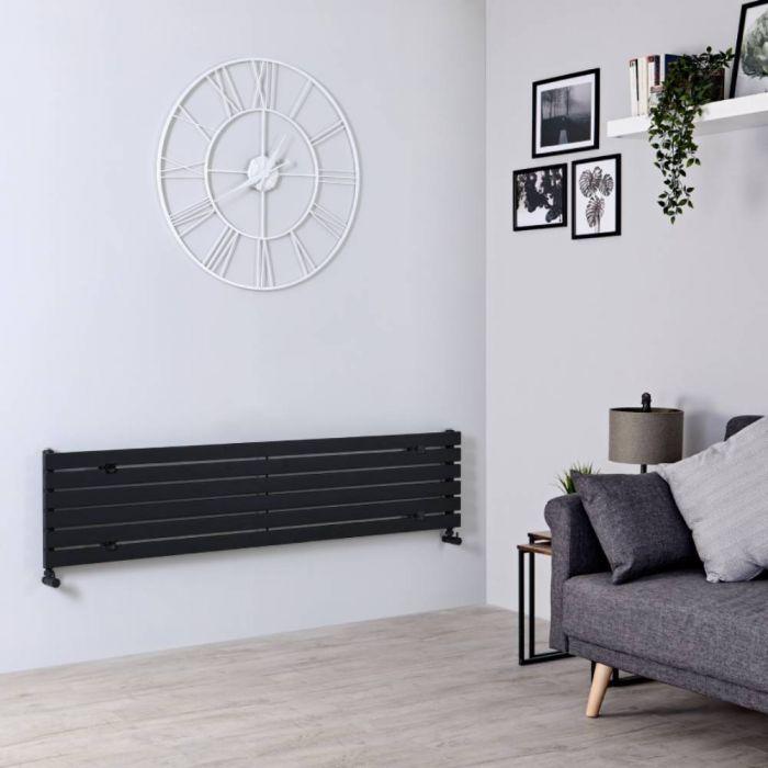 Radiateur Design Horizontal Noir Sloane 35,4cm x 160cm x 5,4cm 773 Watts