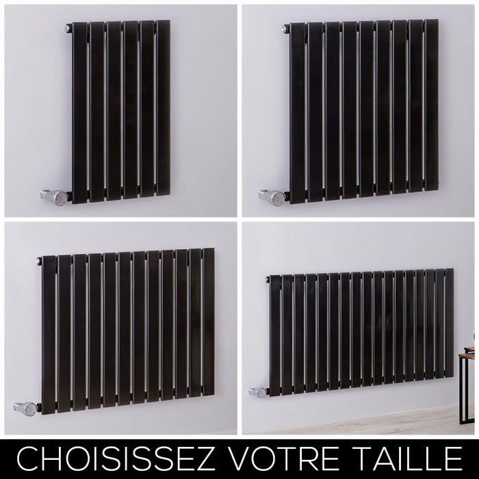 Radiateur design électrique horizontal – 63,5 cm – Noir – Tailles multiples - Delta