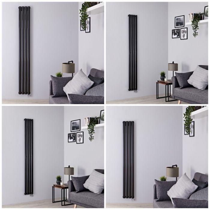 Radiateur design électrique vertical – Noir – 23,6 cm – Choix de tailles - Vitality