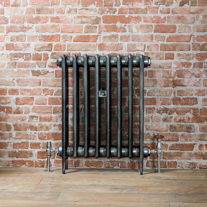 Radiateur fonte - 66 cm – Étain foncé – Tailles multiples – Victoria