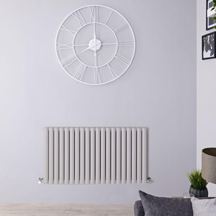 Radiateur design horizontal – 63,5 cm x 118 cm – Gris clair - Vitality
