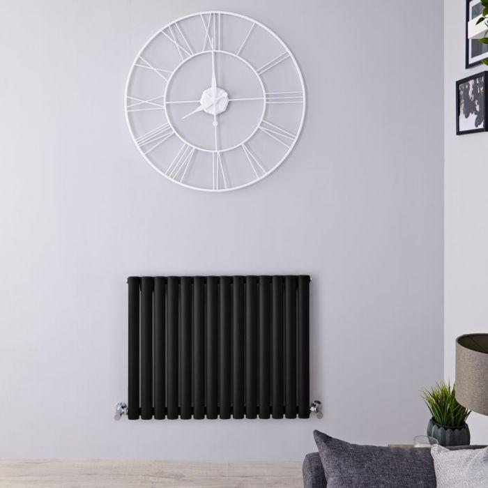Radiateur design électrique horizontal – Noir - 63,5 cm x 83.4 cm x 5,6 cm - Vitality