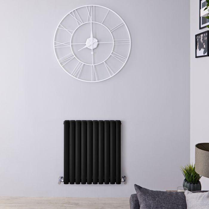 Radiateur Design Horizontal Noir Vitality 63,5cm x 59cm x 7,8cm 932 Watts