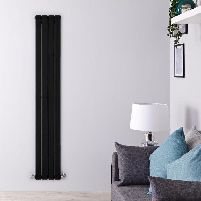 Radiateur Design Vertical Noir Delta 160cm x 28cm x 6cm 882 Watts